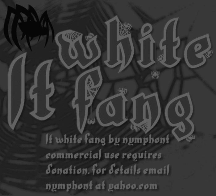 LT White Fang poster