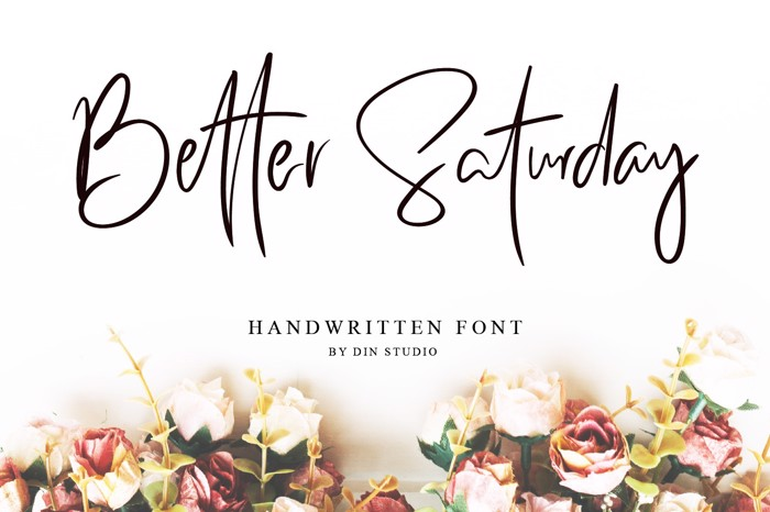 Better Saturday Font poster