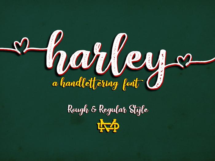 Harley Script Font poster