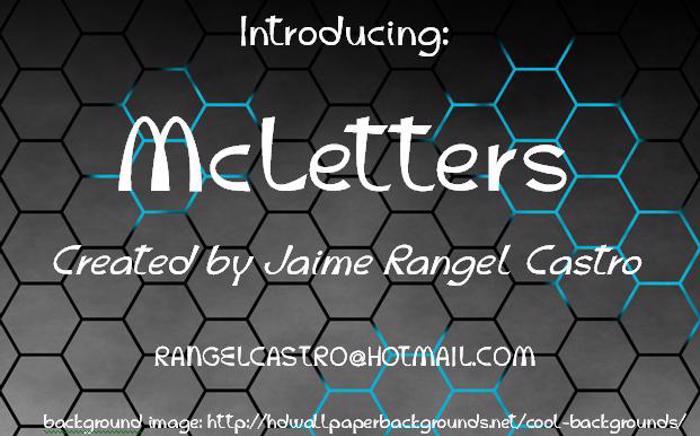 McLetters Font poster