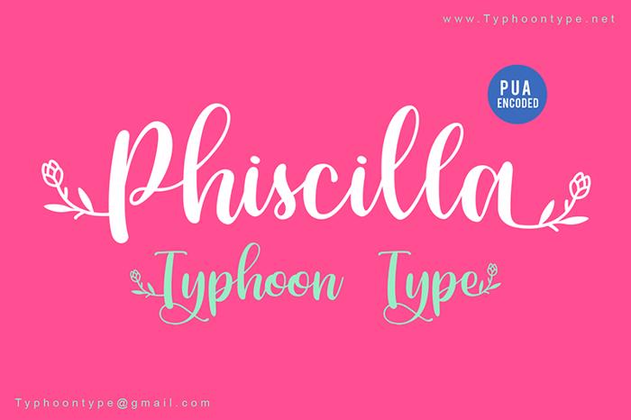 Phiscilla - Font poster
