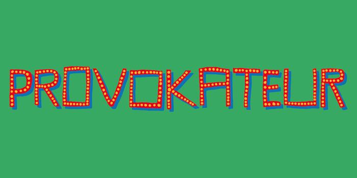Provokateur DEMO Font poster