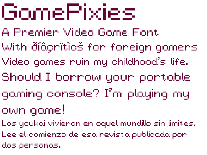 GamePixies Font poster