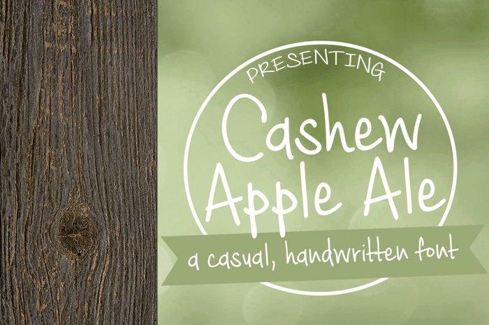 Cashew Apple Ale Font poster