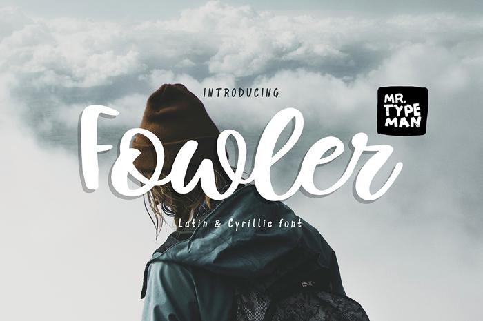 Fowler Font poster