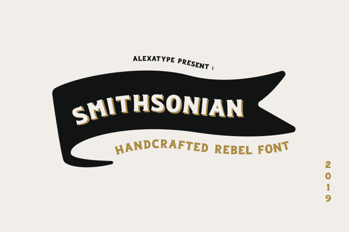 Smithsonian Font poster
