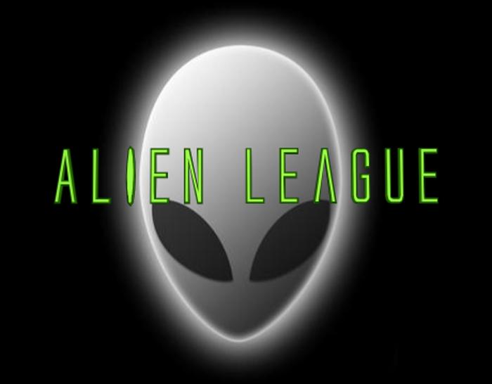 Alien League Font poster