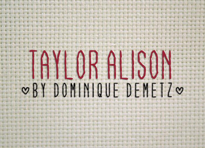 Taylor Alison Font poster