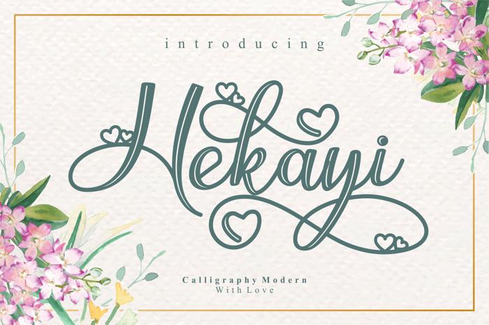 Hekayi Font poster