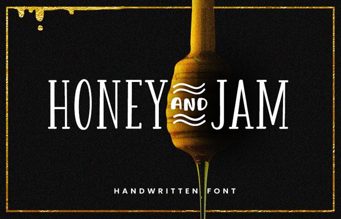 Honey&Jam Font poster
