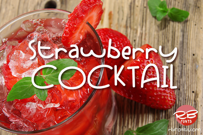 Strawberry Cocktail Font poster