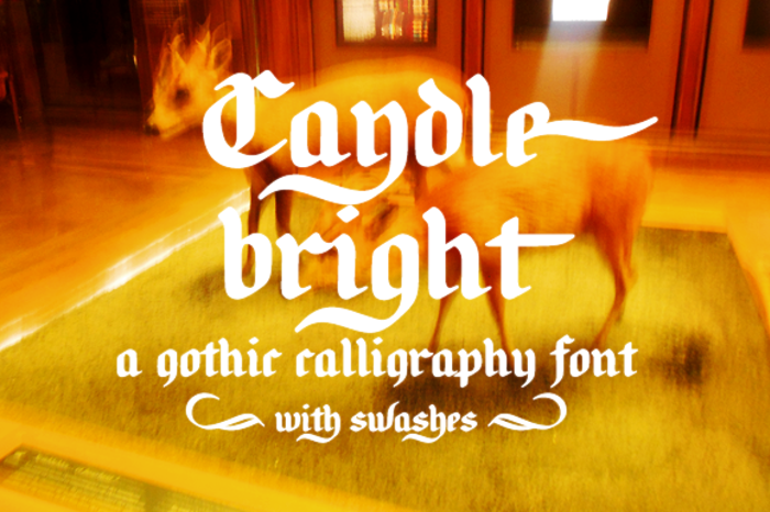 Candlebright Font poster