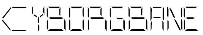 CYBORGBANE Font