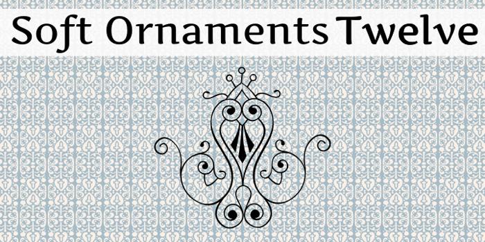 Soft Ornaments Twelve Font poster