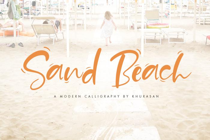 Sand Beach Font poster