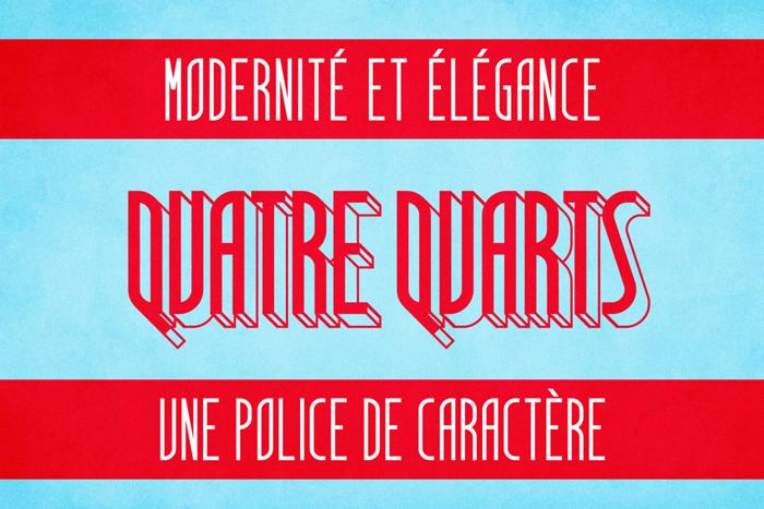 Quatre Quarts Font poster
