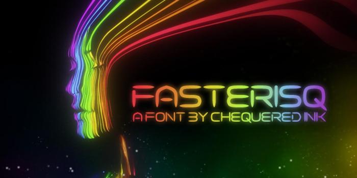Fasterisq Font poster