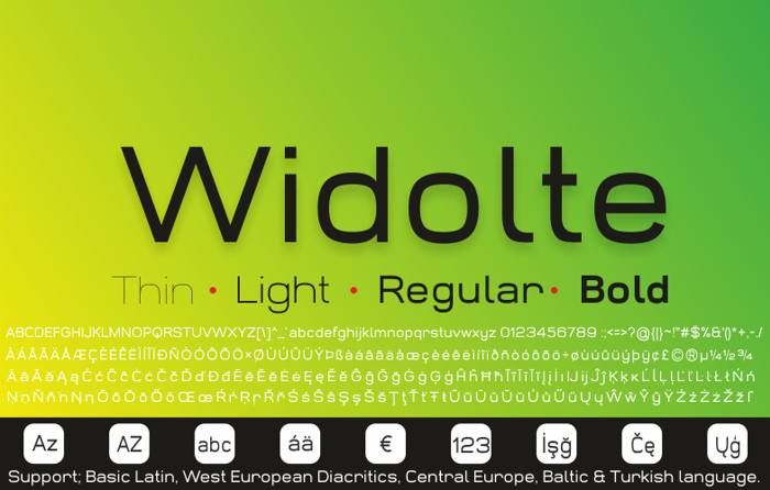Widolte Bold Demo Font poster