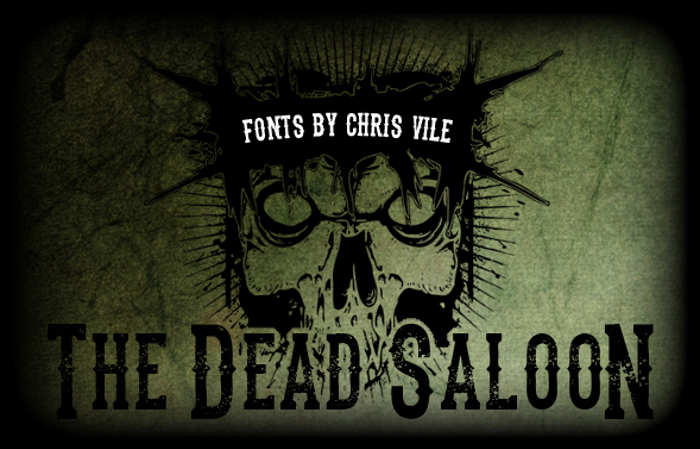 the dead saloon Font poster