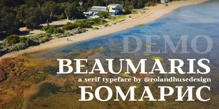 Beaumaris Demo Font poster
