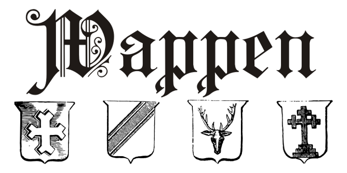 Wappen Font poster