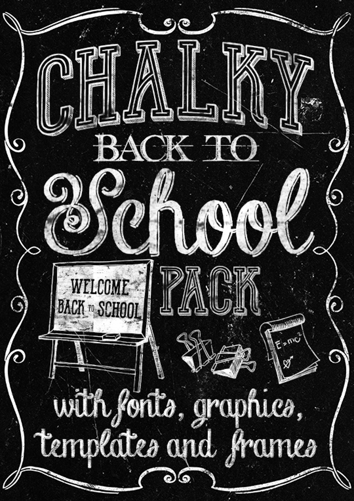Back to School Elements DEMO Font poster