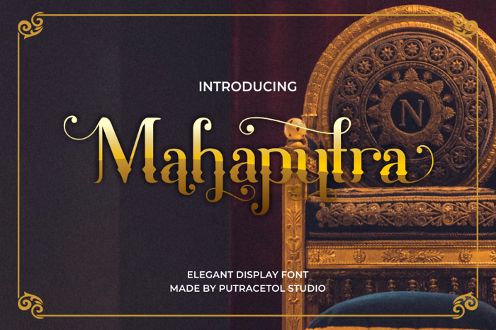 Mahaputra Font poster