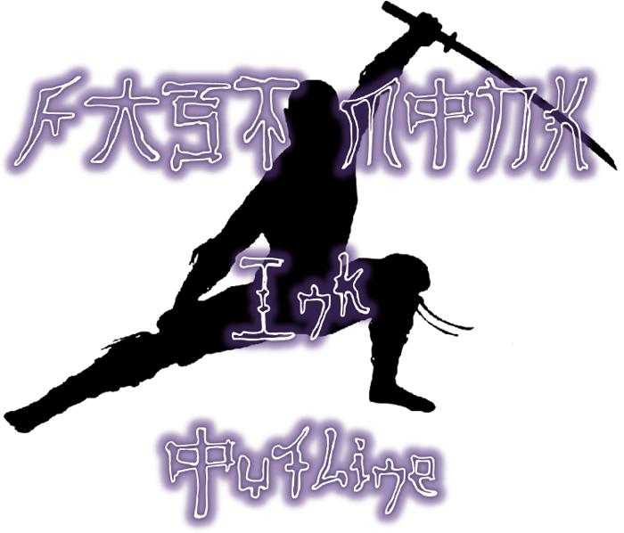 Fast Monk Ink Outline Font poster