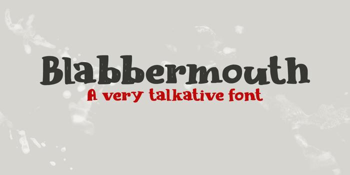 Blabbermouth DEMO Font poster
