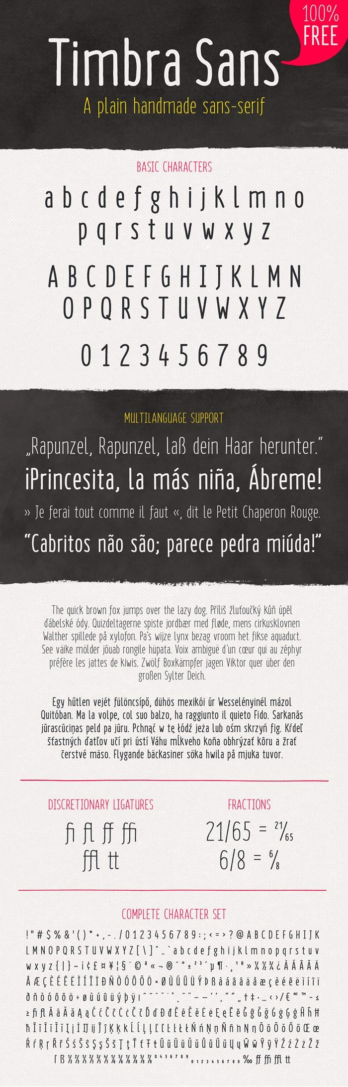 Timbra Sans Font poster