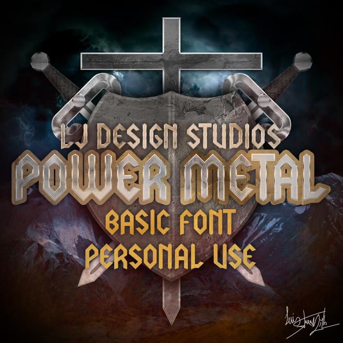 LJ Power Metal Font poster