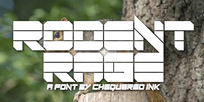 Rodent Rage Font poster