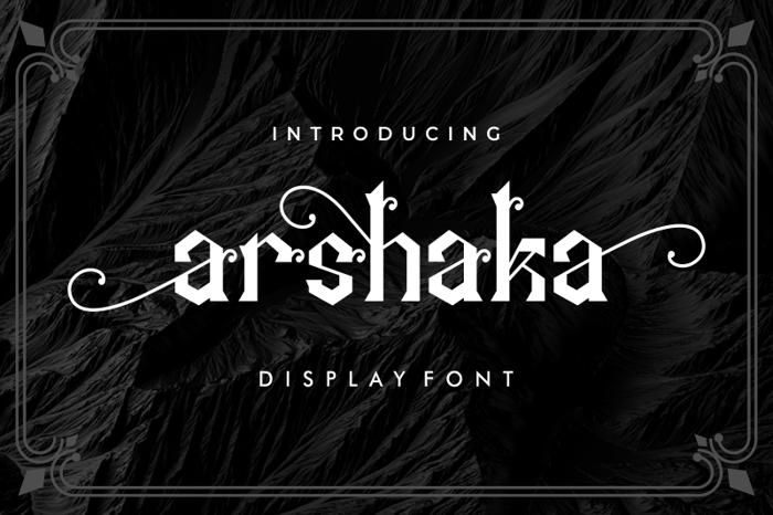 Arshaka Font poster