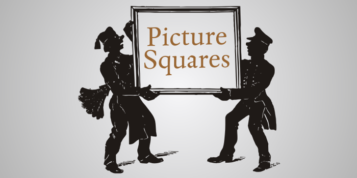Picture Squares Font poster