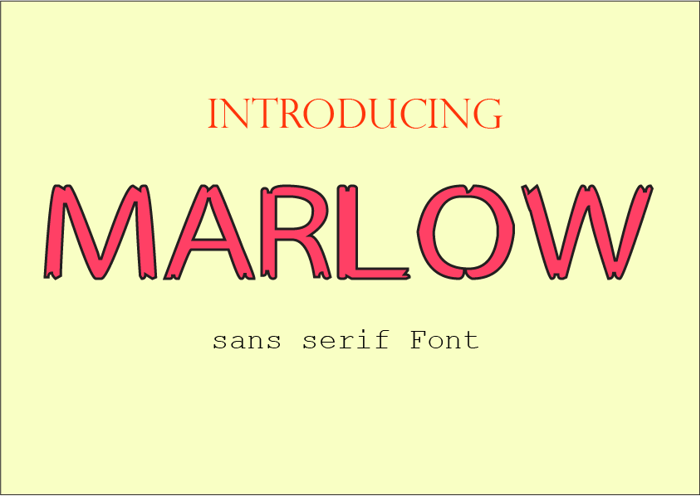 MARLOW Font poster
