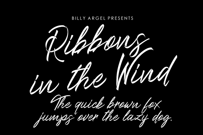 Ribbons in the wind Font poster