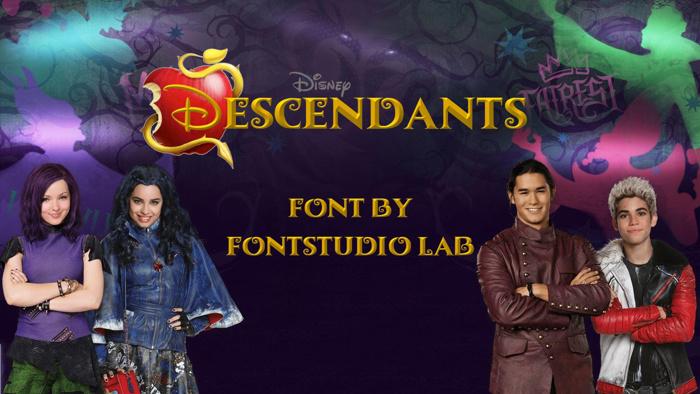 Descendants Font poster