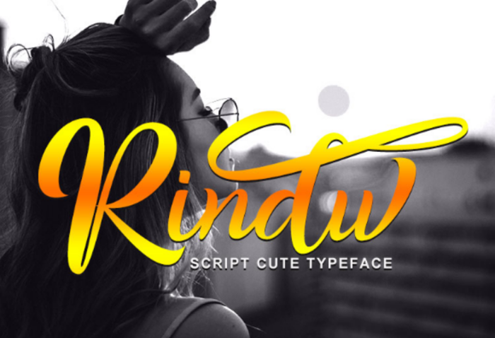 Rindu Font poster