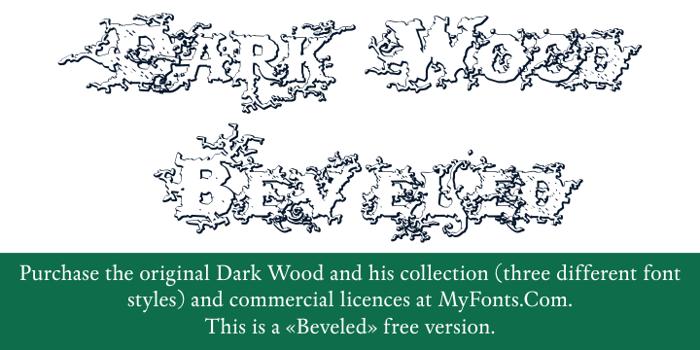DarkWoodBeveled Font poster