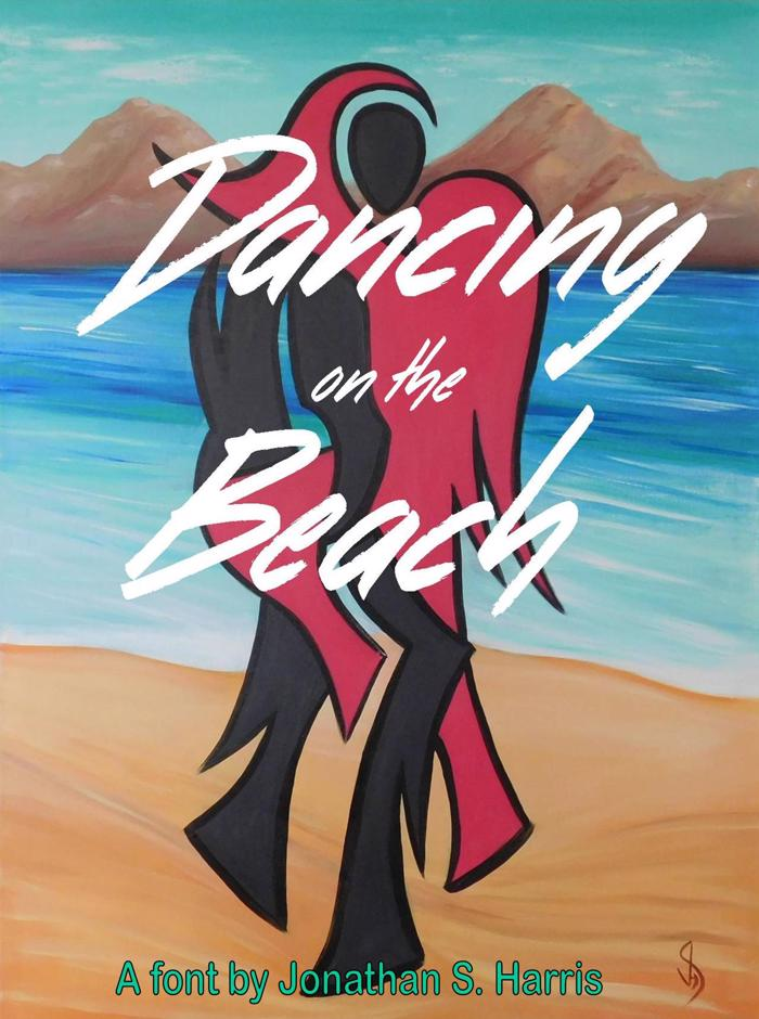 Dancing on the Beach Font poster