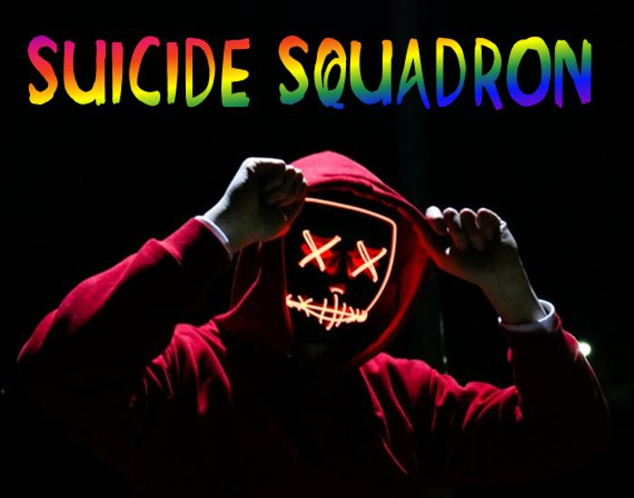 Suicide Squadron Font poster