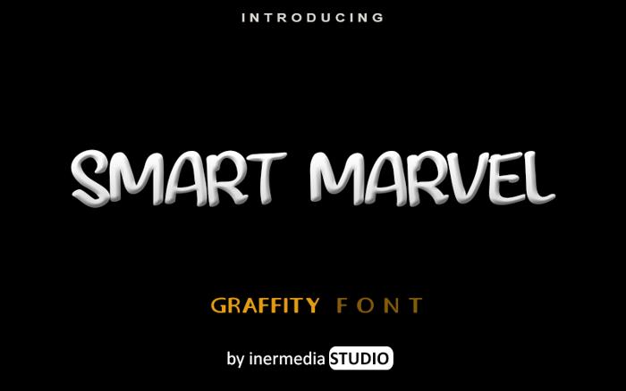SMART MARVEL Font poster