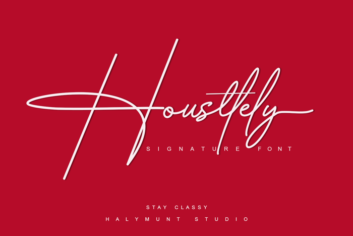 Housttely Signature Font poster