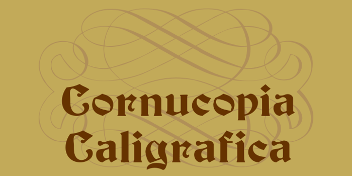 Cornucopia Caligrafica Font poster