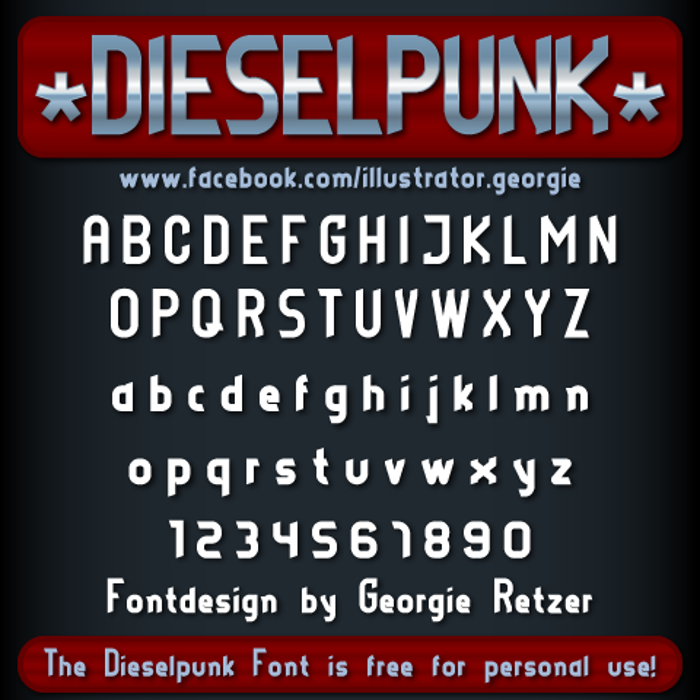 DIESELPUNK Font poster