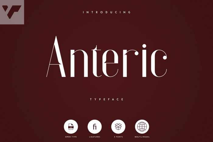 Anteric Font poster
