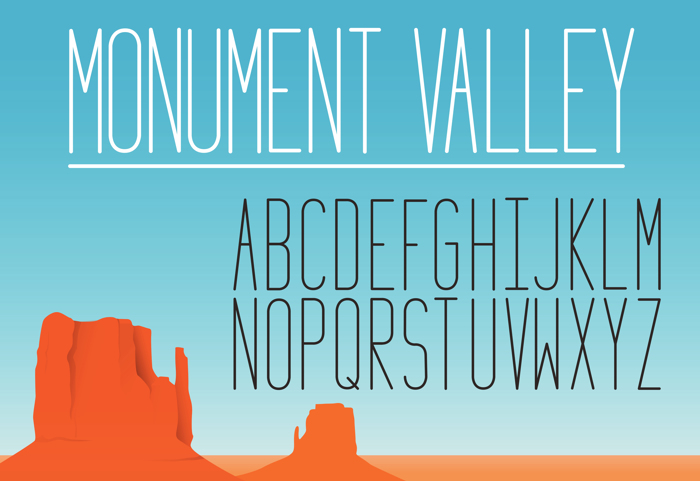 Monument_Valley_1.2 Font poster