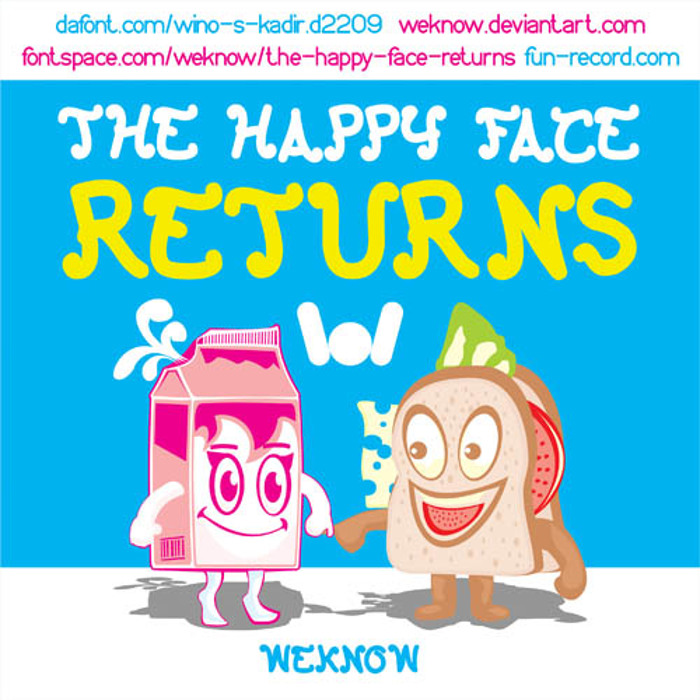 The Happy Face Returns Font poster