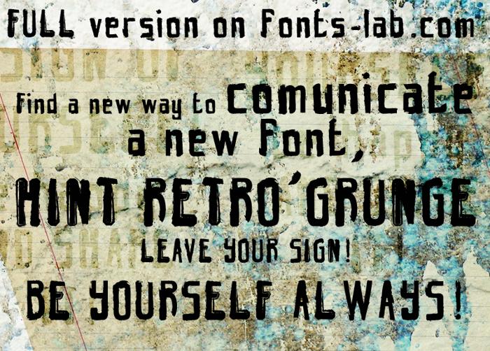 hint retrò grunge Font poster