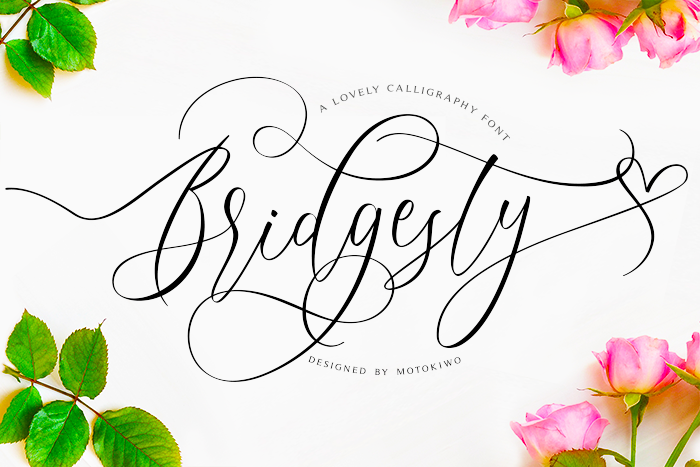 Bridgesty Font poster